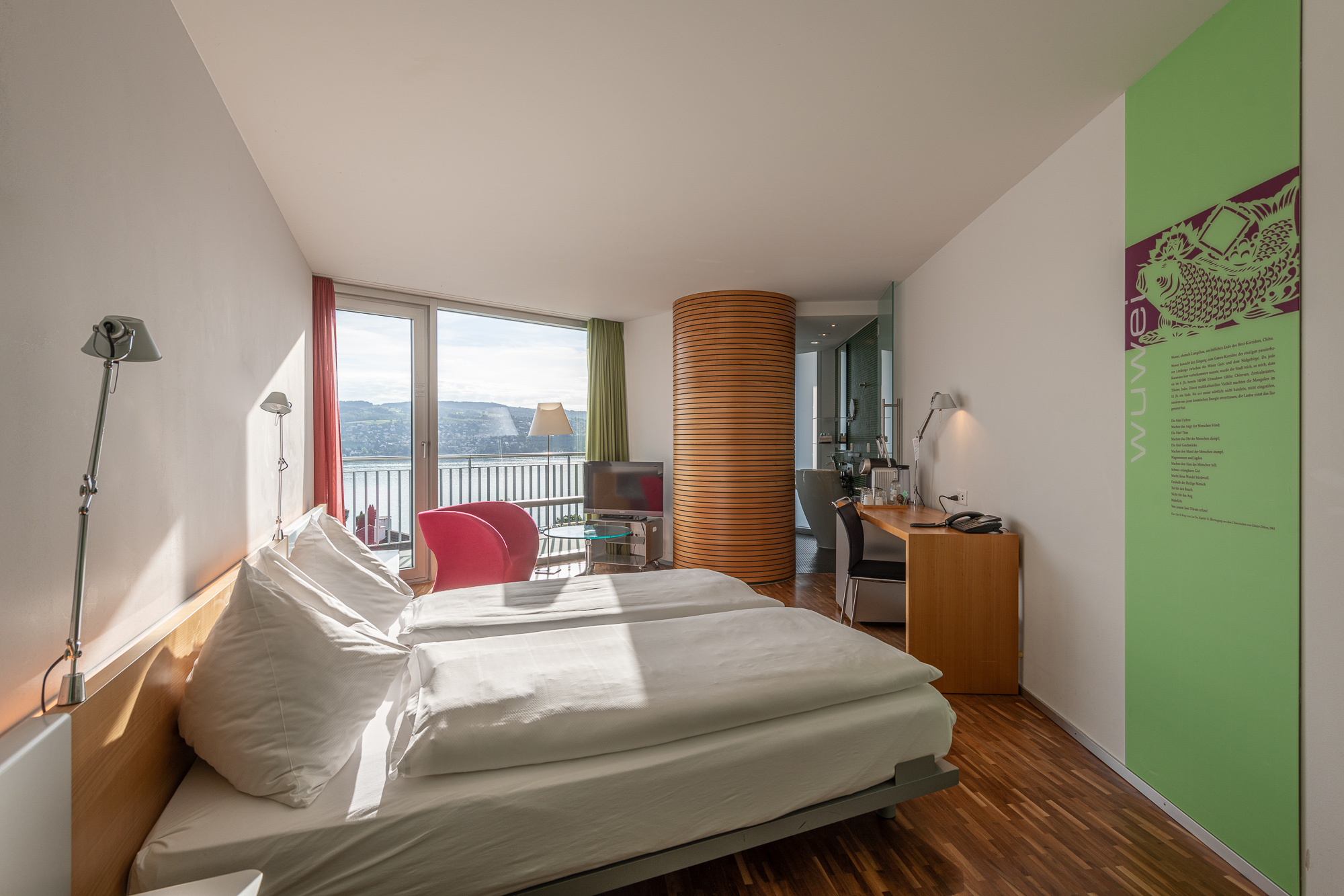 Superior lake view room with two beds